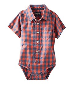OshKosh B'Gosh® Baby Boys' Short Sleeve Plaid Bodysuit