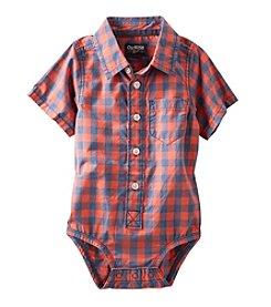 OshKosh B'Gosh® Baby Boys' Short Sleeve Plaid Bodysuit