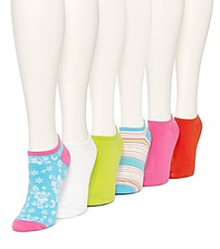 HUE® 6 Pack Cotton Liner Socks