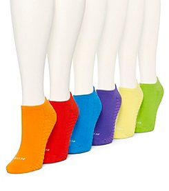 HUE® 6 Pack Massaging Liner Socks