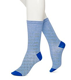 HUE® Mini Stripe Socks