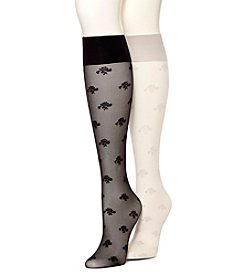 HUE® Whimsy Floral Knee High Socks