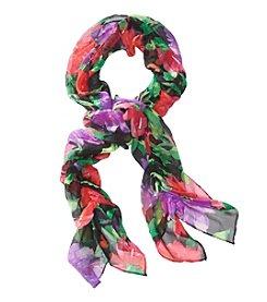 Lauren Ralph Lauren Jaclyn Silk Crinkle Floral Scarf