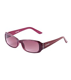 Nine West® Rectangle Stone Detail Sunglasses