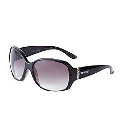 Nine West® Rectangle Stone Hinge Sunglasses