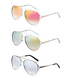 Nine West® Metal Vented Aviator Sunglasses
