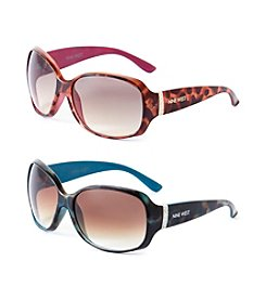 Nine West® Rectangle Stone Hinge Sunglasses