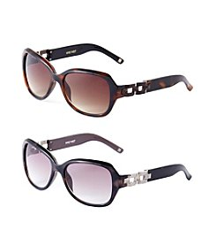 Nine West® Rectangle Chain Detail Sunglasses