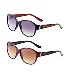Nine West® Plastic Modified Cat Eye Sunglasses
