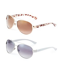Nine West Small Metal Aviator Sunglasses