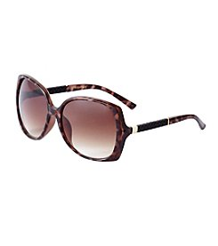 Jessica Simpson Glam Leather Detail Sunglasses