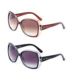 Jessica Simpson Glam Rectangle Sunglasses