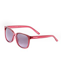 Steve Madden Plastic Crystal Rectangle Sunglasses