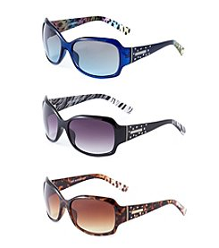 Steve Madden Plastic Glam Animal Print Sunglasses