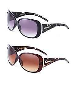 Steve Madden Plastic Glam Tortoise Sunglasses