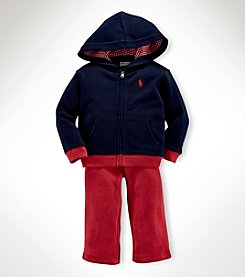 Ralph Lauren Childrenswear Baby Boys' 2-Piece Fleece Terry Hoodie Set