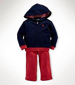 Ralph Lauren Childrenswear Baby Boys' 2-Piece Fleece Terry Hoodie Set