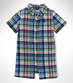 Ralph Lauren Childrenswear Baby Boys' Kensington Plaid Shortall