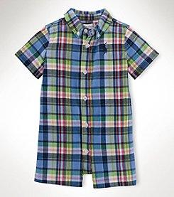 Ralph Lauren Childrenswear Baby Boys' Kensington Plaid Shortall