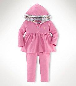 Ralph Lauren Childrenswear Baby Girls' 2-Piece Rose Fleece Set