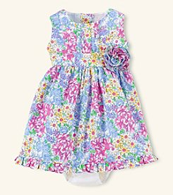 Chaps® Baby Girls' Floral Celebratory Dress