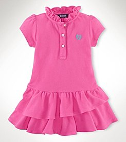 Chaps® Baby Girls' Solid Mesh Dress