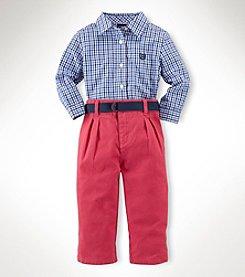Chaps® Baby Boys' Tattersal Pants Set