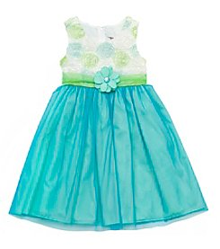 Rare Editions® Girls' 7-16 Floral Bodice With Skirt Dress