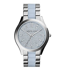 Michael Kors® Women's Silvertone Stainless Steel Slim Runway Watch