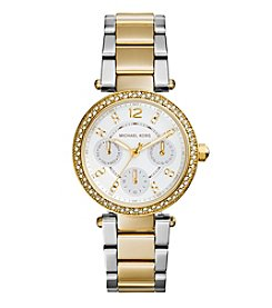 Michael Kors® Women's Stainless Steel and Goldtone Mini Parker Watch