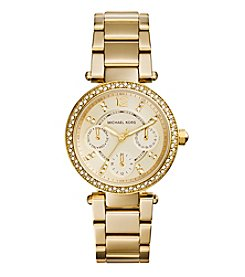 Michael Kors® Women's Goldtone Plated Stainless Steel Mini Parker Watch