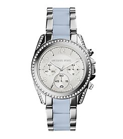 Michael Kors® Women's Silvertone Stainless Steel Blair Watch with Chambray Center Links