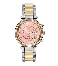 Michael Kors® Women's Two-Tone Stainless Steel and Goldtone Parker Watch