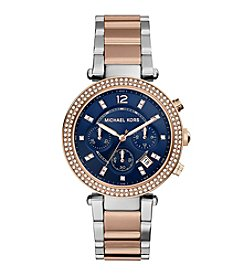 Michael Kors® Women's Two-Tone Stainless Steel and Rose Goldtone Parker Watch
