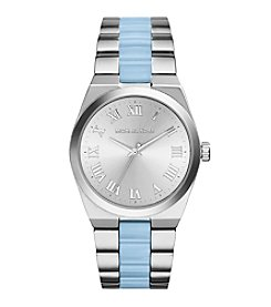 Michael Kors® Women's Stainless Steel Channing Watch with Chambray Center Links