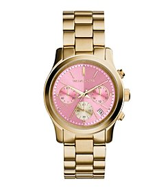 Michael Kors® Women's Goldtone Runway Watch with Zinnia Dial