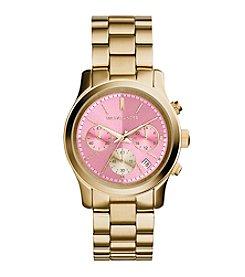Michael Kors® Women's Goldtone Runway Watch with Zinnia Dial