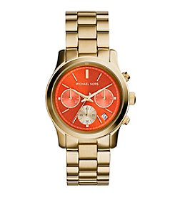 Michael Kors® Women's Goldtone Runway Watch with Mandarin Dial