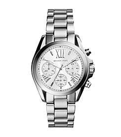 Michael Kors® Women's Silvertone Stainless Steel Mini Bradshaw Watch