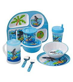 LivingQuarters Shark Kids Dinnerware Collection