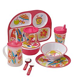 LivingQuarters Flamingo Kids Dinnerware Collection