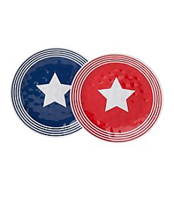 LivingQuarters Americana Dinner Plate