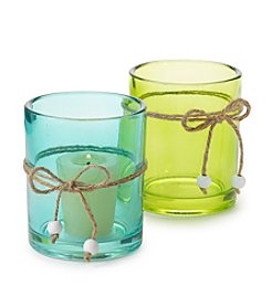 LivingQuarters Glass Candle Holder