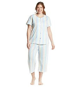 Intimate Essentials® Plus Size Striped Pajama Set