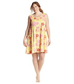 Jasmine Rose® Plus Size Lemonade Sleep Gown