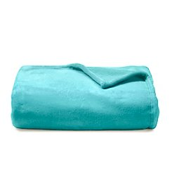 LivingQuarters Aqua Micro Cozy Throw