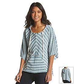 Hippie Laundry Jacquard Hooded Sweater Cape