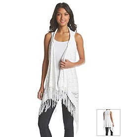 Hippie Laundry Pointelle Duster Vest
