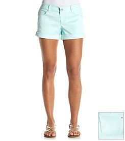 Celebrity Pink Sateen Cuffed Shorts