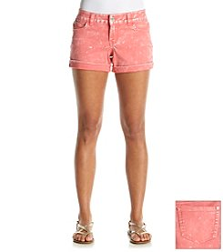 Celebrity Pink Sateen Cuffed Short Acid Wash